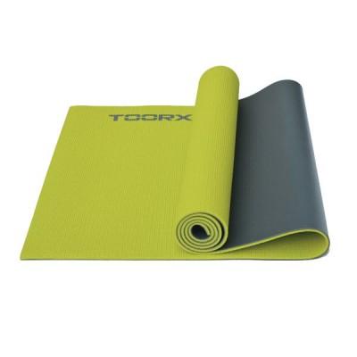 Στρώμα DUAL COLOR Yoga/Pilates and Fitness Πράσινο/γκρι-Toorx