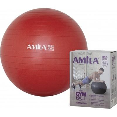 Μπάλα γυμναστικής 55cm -1000gr - Κόκκινη σε κουτι