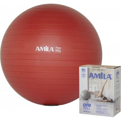 Μπάλα Γυμναστικής AMILA GYMBALL 75cm Κόκκινη σε κουτί